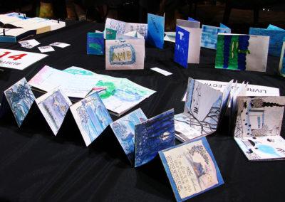 """Livre d'artiste """"bleu d'Euclides"""""""